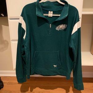 PINK Philadelphia Eagles Half-Zip